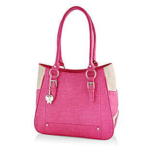 Butterflies Feminine Pink Handbag: Handbags and Wallets Gifts