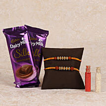 Cadbury Silk And Rakhi Combo: Rakhi Gifts to Bhilwara