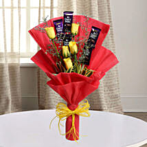 Cadbury With Rose: Chocolate Bouquet for Him