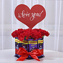 Carnations & Dairy Milk Chocolate Bouquet: Combos