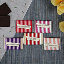 Chocolate Bars For All- 5 Pieces: Personalised Chocolates for Birthday