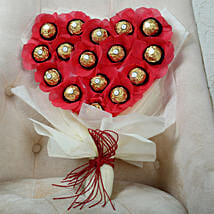 Chocolate Heart Bouquet: Ferrero Rocher Chocolates