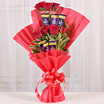 Chocolate Rose Bouquet: Valentine Flowers Faizabad