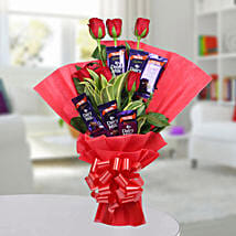 Chocolate Rose Bouquet: Valentine Flowers for Her