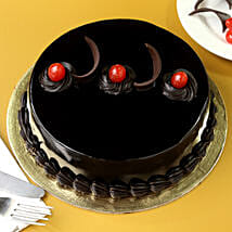 Chocolate Truffle Cream Cake: Pooja Thali to Jaipur