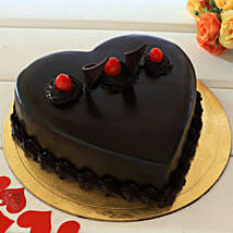 Chocolate Truffle Heart Cake: Cakes to Muzaffarpur