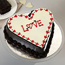 Chocolate Truffle Love Cake: Promise Day Cakes