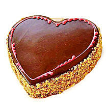 Chocolaty Heart Cake: Heart Shaped Cakes Bengaluru