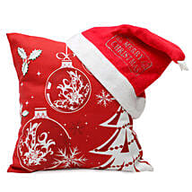 Christmas Cushion and Cap: