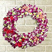 Circle of Life Wreath: Flowers to Amravati