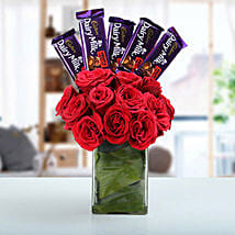 Classic Choco Flower Arrangement: Valentines Day Flowers & Chocolates