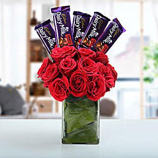 Classic Choco Flower Arrangement: Send Flowers to Nainital
