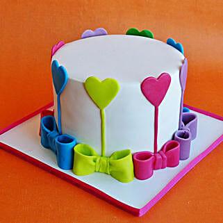 Colors Of Love Cake: Anniversary Designer Cakes