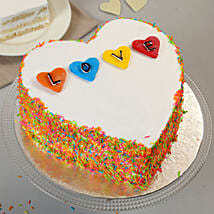 Colourful Love Cake: Send Valentines Day Designer Cakes
