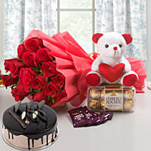 Win Her Heart Love Combo With Chocolate Cake: Chocolates for birthday