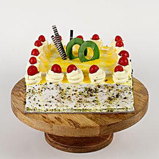 Cream Drop & Cherry Pineapple Cake: Anniversary Cakes