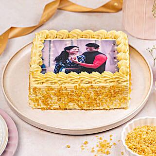 Crunchy Butterscotch Photo Cake: Send Photo Cakes