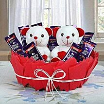 Chocolatey Basket of Teddy Bears: Gifts for Teddy Day