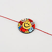 Cute Colorful Smiley Rakhi: Send Rakhi to Srikakulam
