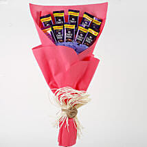 Dairy Milk Chocolates Red Paper Bouquet: Chocolate Bouquet for New Year