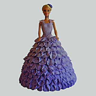 Dazzling Blue Barbie Cake: