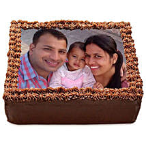 Delicious Chocolate Photo Cake: Send Personalised Gifts to Rohtak