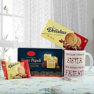 Double Ur Sweetness: Rakhi With Sweets Dwarka