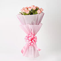 Elegance - Pink Roses Bouquet: Thinking for You Flowers