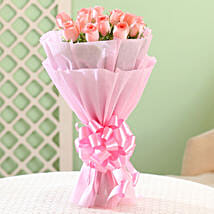 Elegance - Pink Roses Bouquet: New Year Gifts for Friend