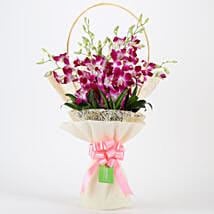 Elegant Purple Orchids Bouquet: Orchids