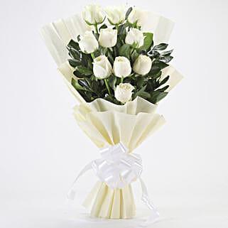 Elegant White Roses Bouquet: White Roses