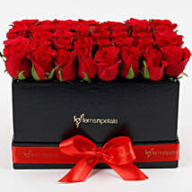 Ravishing 40 Red Roses Box Arrangement: Flower Arrangements