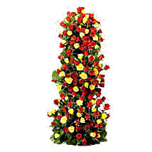 Endless Love- 100 Roses Floral Tower: Send Flowers to Delhi