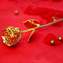 Engraved Golden Valentine Rose: Send Flowers to Gopalpur