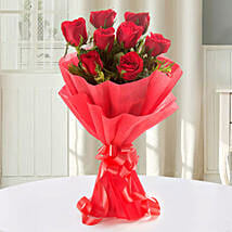 Enigmatic Red Roses Bouquet: Valentine Flowers to Gandhinagar