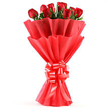 Enigmatic Red Roses Bouquet: Flower bouquets for anniversary
