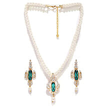 Estelle Off White and Green Jewellery Set: Jewellery Gifts