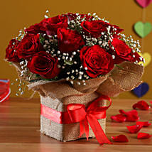 Exotic Red Roses Arrangement: Send Flowers to Jalna