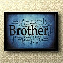 Expressive Brother Frame: Gift for Brother
