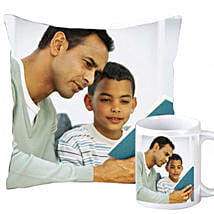 Fathers Day Personalized Combo: Send Personalised Cushions to Kolkata