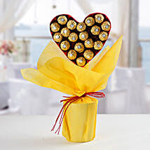 Ferrero Rocher Heart Bouquet: New Year Gifts for Friend
