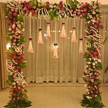 Floral Gateway Hanging Decoration: Flowers for Janmashtami