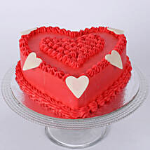Floral Red Heart Cake: Cakes to Thoppumpady
