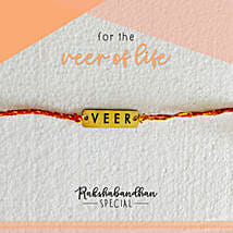 For Your Veer Quirky Rakhi & Card: Send Rakhi to Shahjahanpur