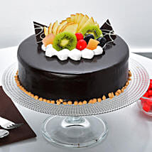 Fruit Chocolate Cake: Cakes to Muzaffarpur