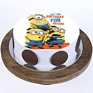 Funny Minions Cake: Red Velvet Cakes Chennai