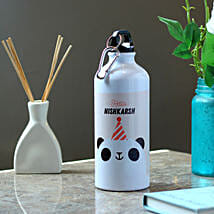 Funny Panda Personalised Steel Bottle: Send Personalised Gifts for Friend