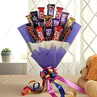 Glistening Choco Bouquet: Chocolate Bouquets for anniversary