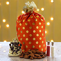 Gold Plated Ganesha Idol & Almonds: Diwali Gifts for Family