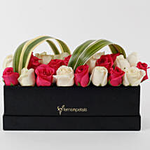 Graceful Roses Box Arrangement: Flowers for Mother's Day